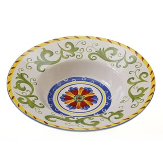Hand-painted Amalfi 14.25-inch Ceramic Serving Bowl