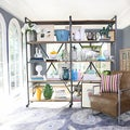 angelo:HOME Ludlow Wood and Metal Shelving Wall Unit