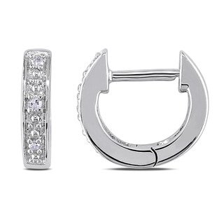 Miadora 10k White Gold Diamond Accent Cuff Earrings