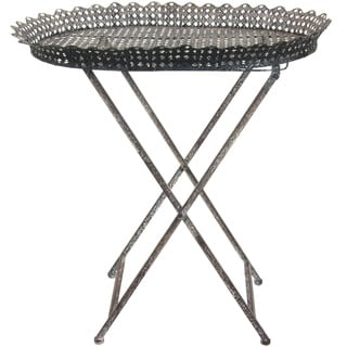 Collapsible Circular Iron Tea Table (China)