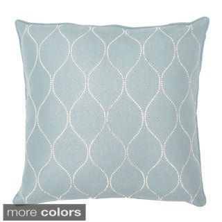 Darcy Faux Feather Filled Diamond 20-inch Square Throw Pillow