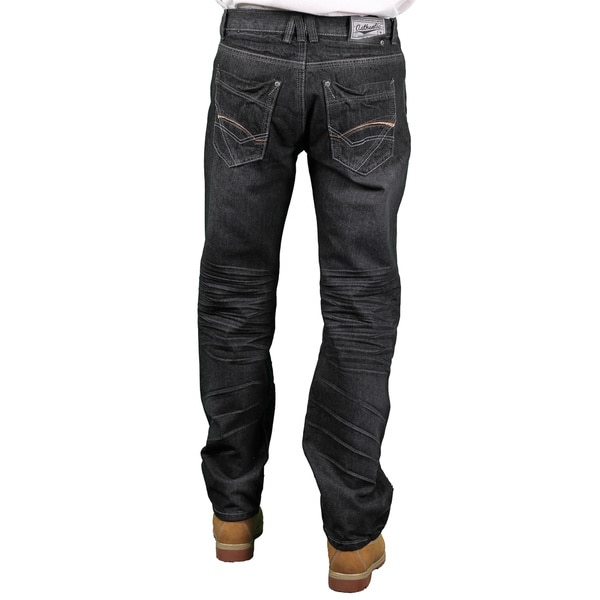 MO7 Men's Black Modern Straight Fit Fashion Jeans
