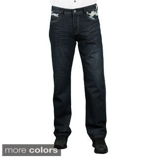 MO7 Men's Slim Fit Camo Trim Denim Jeans
