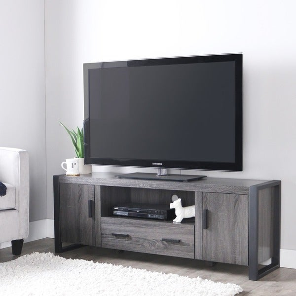 60 inch charcoal grey tv stand 16260494 shopping great deals on. Black Bedroom Furniture Sets. Home Design Ideas