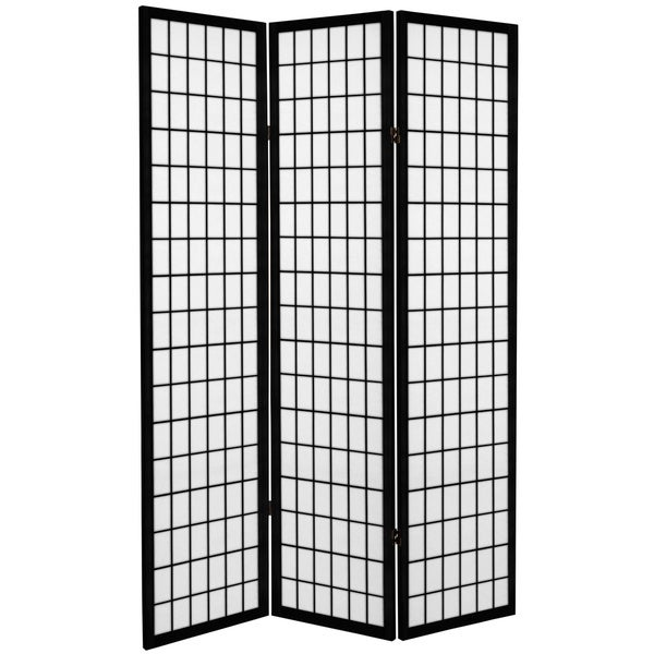 6-foot Tall Canvas Window Pane Room Divider