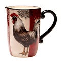 Hand-painted Fancy Rooster 3-quart Ceramic Pitcher