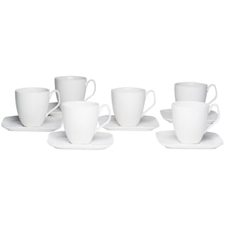 Red Vanilla Trends Tea Cup/ Saucer Set (Pack of 6)