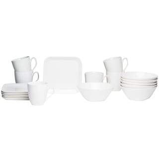 Red Vanilla Trends Square Coupe 18-piece Brunch Set