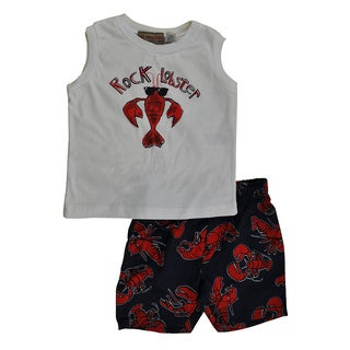 Kids Headquarters Infant Boys' 2-piece Swim Short Set in Lobster