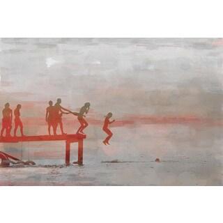Parvez Taj 'Jump In Lake' Canvas Art