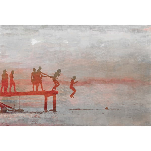 Parvez Taj 'Jump In Lake' Canvas Art