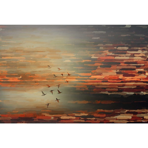 Parvez Taj 'Night Flight' Canvas Art