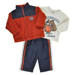 Kids Headquarters Boys' Micro Fleece 2-piece Set in Burnt Orange
