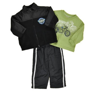 Kids Headquarters Boys' Black Micro Fleece 3-piece Set