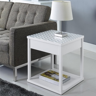 Parsons Chevron-top End Table