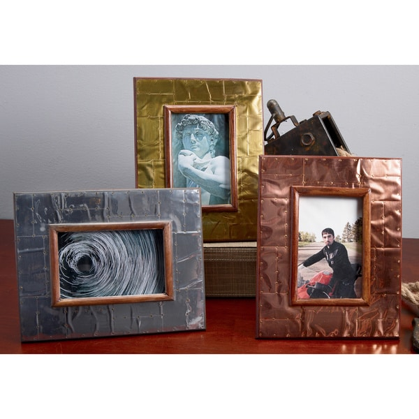 Industrial Metal 4x6 Frame (Set of 3)