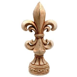20-inch Antiqued Fleur-de-lis Statue
