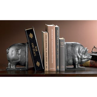 Smiling Swine Cast Iron Bookends