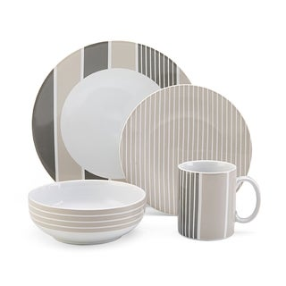 Nautica Knots Bay Taupe 4-piece Dinnerware Set