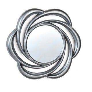Elements 24-inch Silver Floral Swirl Mirror