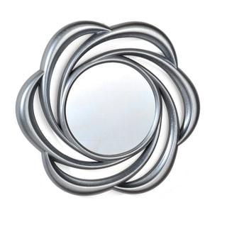 Elements 24-inch Silver Floral Swirl Mirror