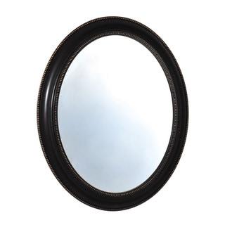 Elements 24x39-inch Black Bead Oval Plastic Mirror