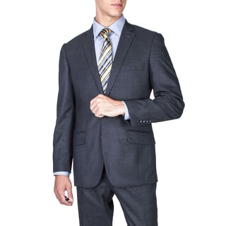 Men's Slim Fit Midnight Blue 2-button Wool Suit