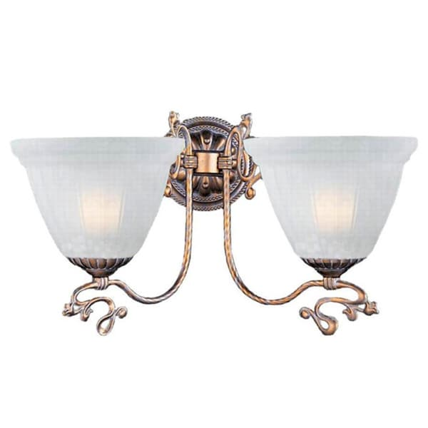 Charleston Antique Silver Two-light Wall Sconce