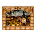 Hand-painted Tuscan View Rectangular Platter