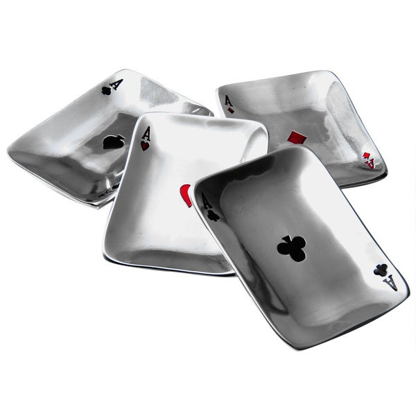 Playing Card Aces Snack Dish Set (Set of 4)