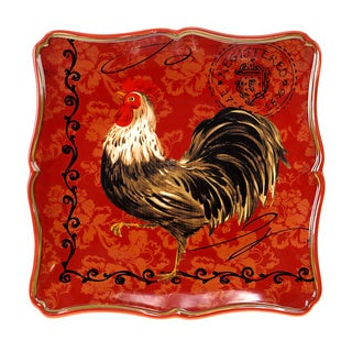 Certified International Tuscan Rooster 12.5-inch Square Platter