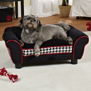 Enchanted Home Pet Houndstooth Lotus Furniture Pet Bed