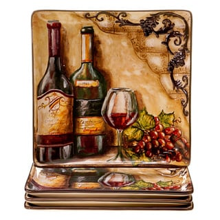 Certified International Tuscan View Ceramic Dinner Plates, Set of 4