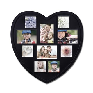 Adeco 10-opening Heart Shaped Photo Collage Frame