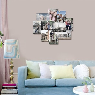 Adeco 10-opening Hanging Photo Collage Frame