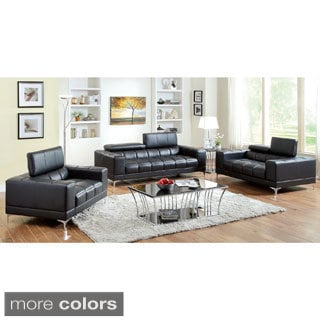 Furniture of America 3-piece Contemporary Living Room Set