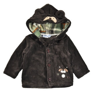 Baby Headquarters Boys' Micro Fleece 2-piece Set in Brown