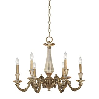 Kenilworth 6-light Brass and Crystal Chandelier