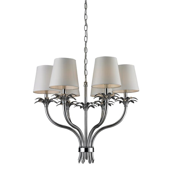 Carlisle 6-light Polished Chrome Shaded Chandelier