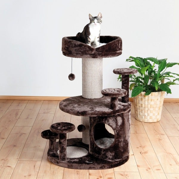 Trixie Emil 38-inch Plush Senior Playground Cat Condo