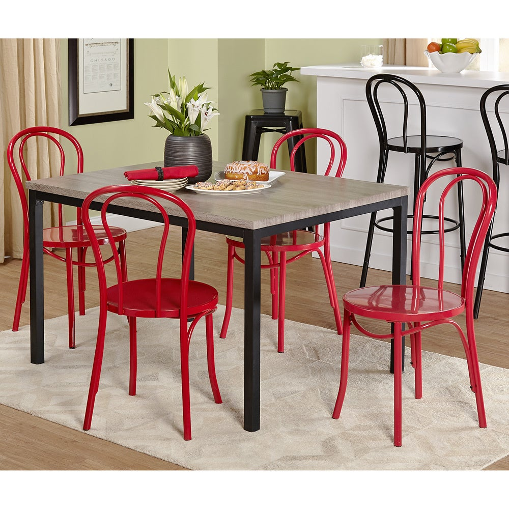 tms vintage inspire 5 piece dining set red size 5 piece sets