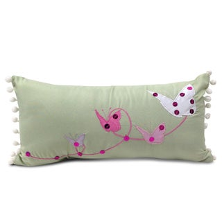 Lumbar Applique Pom-poms Embroidered Decorative Pillow