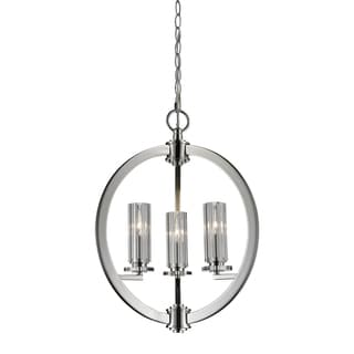 Lindisfarne 3-light Polished Nickel Chandelier