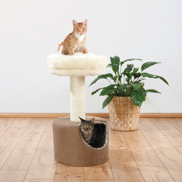 Trixie Elisa 31-inch Long-haired Plush Cat Condo
