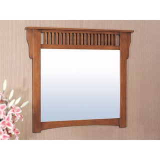 Mission Style Rectangular 48-inch Wall Mirror
