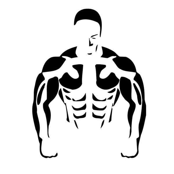 Muscle Man Vinyl Wall Art
