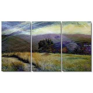 Studio Works Modern 'Sonoma Meadow Tryptic' Fine Art Gallery Wrapped Canvas