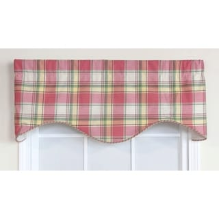 Safari Plaid Cornice Window Valance
