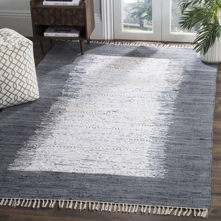 Safavieh Hand-woven Montauk Ivory/ Grey Cotton Rug (4' x 6')