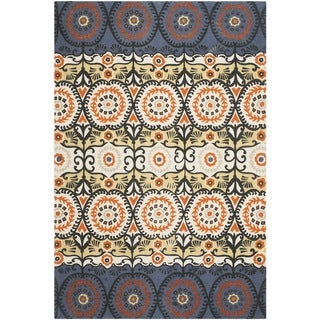 Safavieh Hand-loomed Cedar Brook Lilac/ Orange Cotton Rug (7'3 x 9'3)